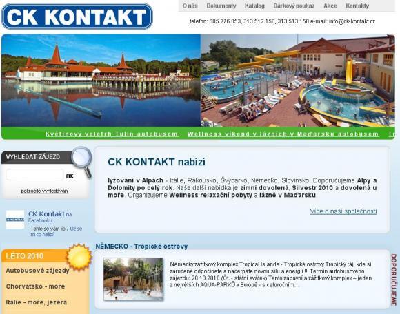 CK Kontakt - dovolená v Itálii, Rakousku i Švýcarsku