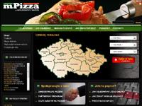 mPizza.cz - náhled webu